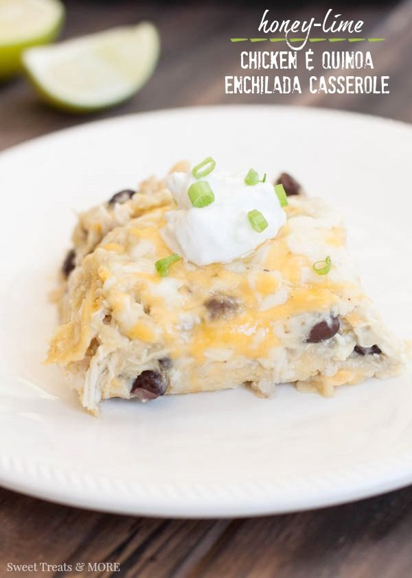 Honey-Lime Chicken & Quinoa Enchilada Casserole