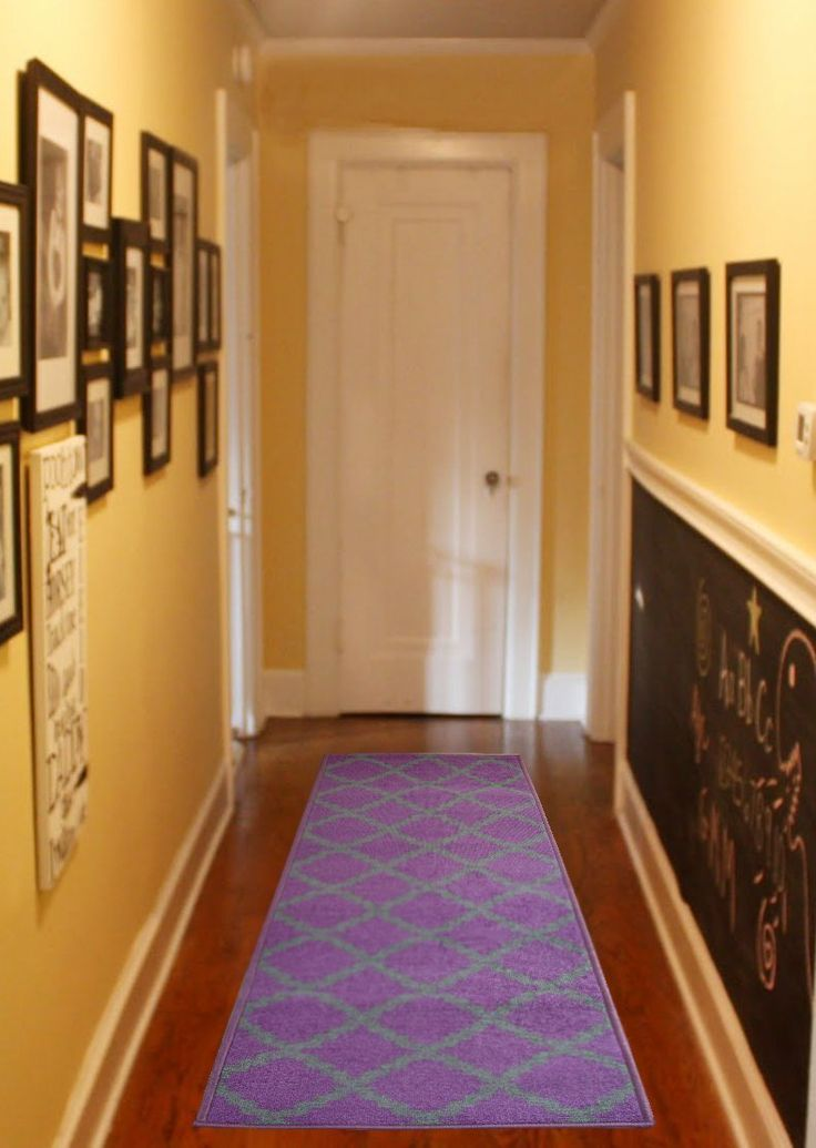 Interior: Cool Hallway Decor Idea With Yellow Wall Paint Color .