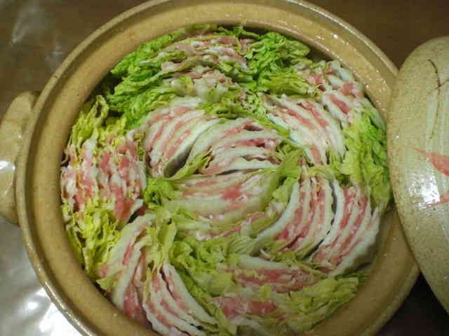 白菜と豚バラ肉のミルフィーユ鍋の画像