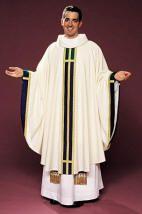 Albe, Wit linnen onderkleed met lange mouwen. De bisschop, priester en diaken dragen dit tijdens de eredienst.