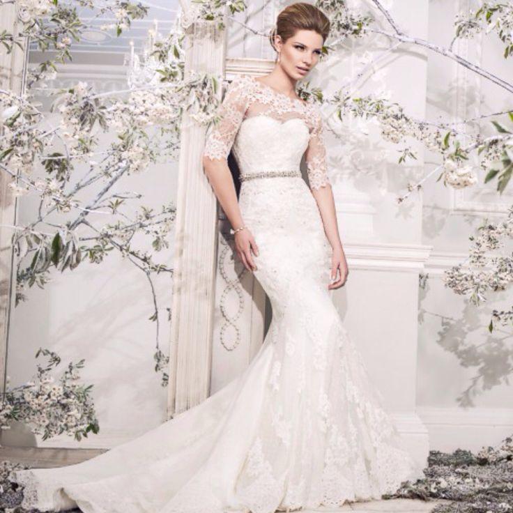 Ellis Bridals wedding gown wedding dress wedding dresses bridal gowns bridal gown lace wedding dress vintage wedding dress fit and flare mermaid cut lace Sleeves 2013 2014