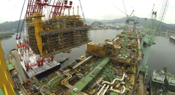 Video: Prelude FLNG Taking Shape – Bird's-Eye-View of Largest Floating Structure Ever Built