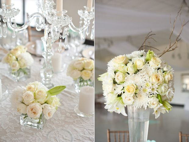 Gorgeous high and low flower centre pieces