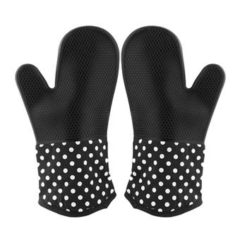 Buy Professional Silicone Heat-resistant 300°C+ Oven Mitts Gloves with Quilted Cotton Lining for Cooking Baking Grilling Smoking BBQ/Barbecue Microwave(1 Pair)-Black online at Lazada. Discount prices and promotional sale on all. Free Shipping.