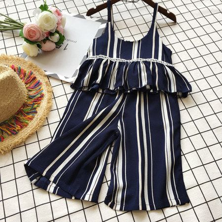 Buy Stripe Girls Summer Two Pieces Set online with cheap prices and discover fashion Toddler Sets at Popreal.com.
