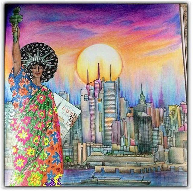 Instagram media desenhoscolorir - Pintura incrível de Rosana Penze. Livro Segredos de Nova York.  Use #desenhoscolorir  para ver seus desenhos por aqui. #segredosdenovayork  #colorindosegredosdenovayork #newyorksecret  #newyorksecretcolorbook  #zoedelascases  #coloringbook  #colorindosegredosdeparis #illustration #newyork