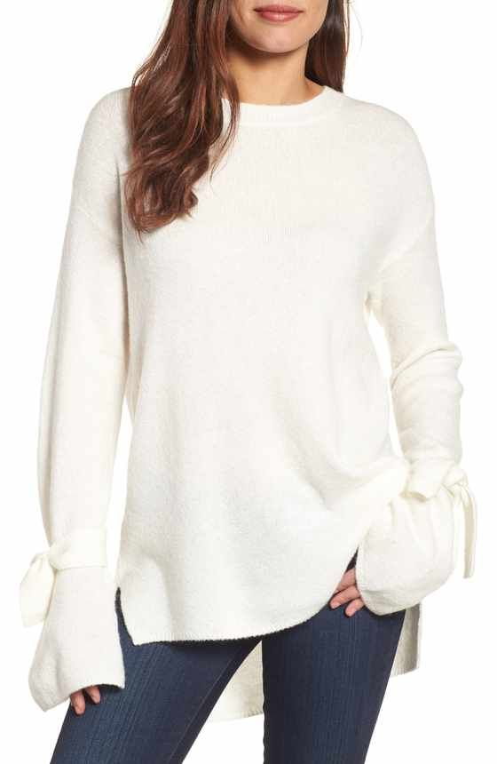 d5e09b4756b08 Free shipping and returns on BP. Ruffle Cold Shoulder Sweater at Nordstrom.com.  This cozy ribbed-knit sweater extends your favorite statement ruffles and  ...