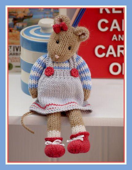 MJT Little Gems 2 'CORNISH Mice' Pdf /email Toy Knitting Pattern / NEW