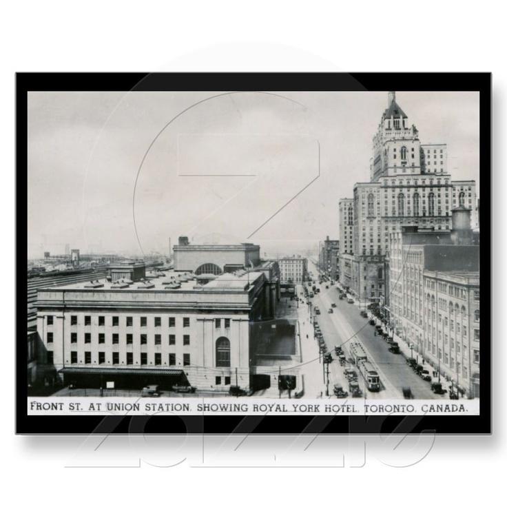 Front St., Union Station, Toronto Vintage Post Card $1.95 on Zazzle!