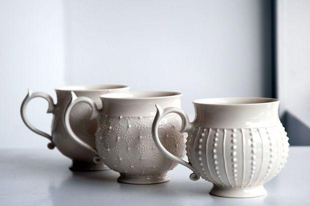 Wow those handles. Barbara Hast Porcelain