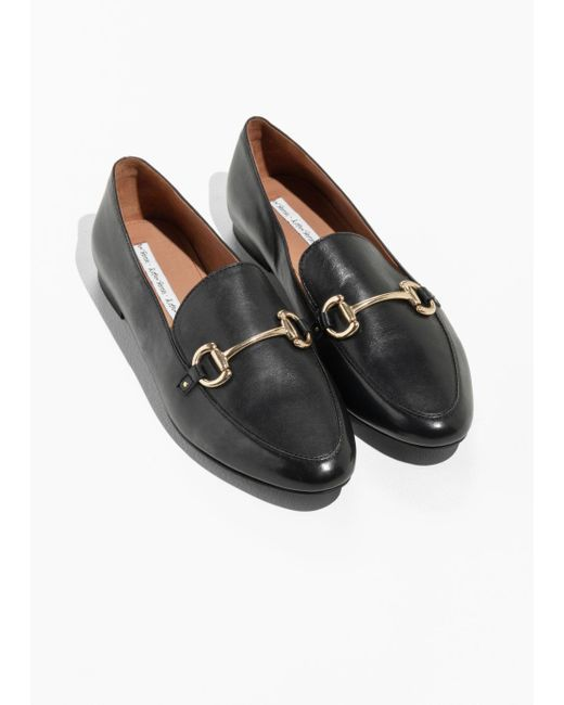 eed5e6517bd Other Stories - Black Equestrian Buckle Loafers - Lyst