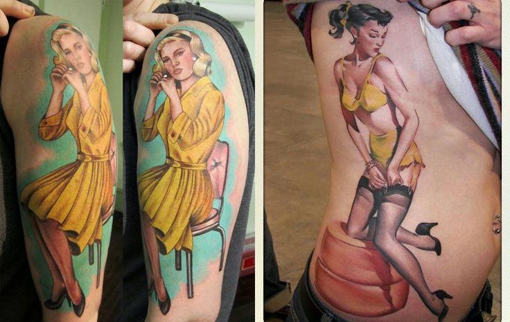 Pin up girls and pin up tattoos – a short history
