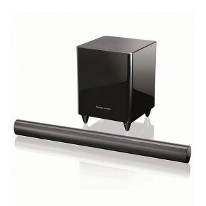 Soundbar Harman Kardon SB 30 - Complete home theatre sound system featuring exclusive HARMAN Wave surround-sound technology and Dolby Volume with a 100-watt powered wireless subwoofer.