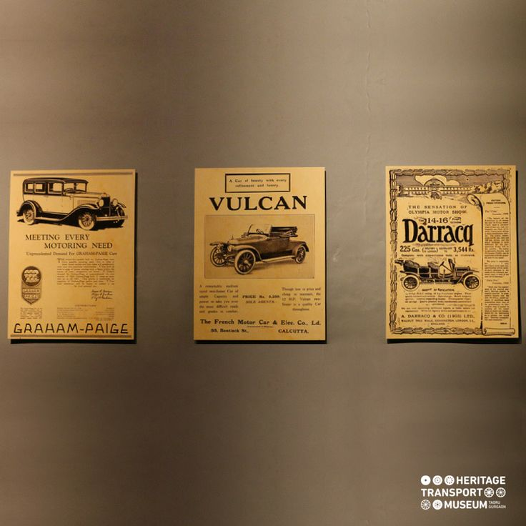 The archival advertisement posters of Graham Paige, Vulcan and Darracq!  #vintageadvertising #vintageposters #archival #transportmuseum #heritagetransportmuseum