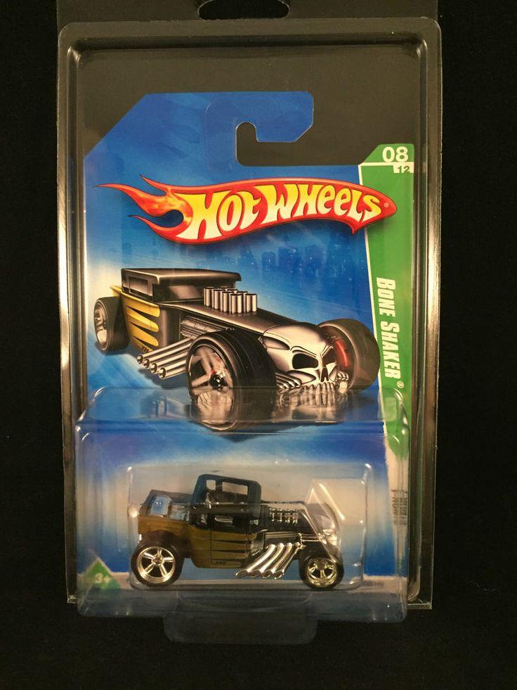 2009 Hot Wheels SUPER Treasure Hunt BONE SHAKER Real Riders w/ PROTECTO  #HotWheels #BoneShaker