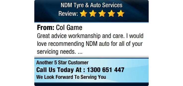 Great advice workmanship and care. I would love recommending NDM auto for all of your...