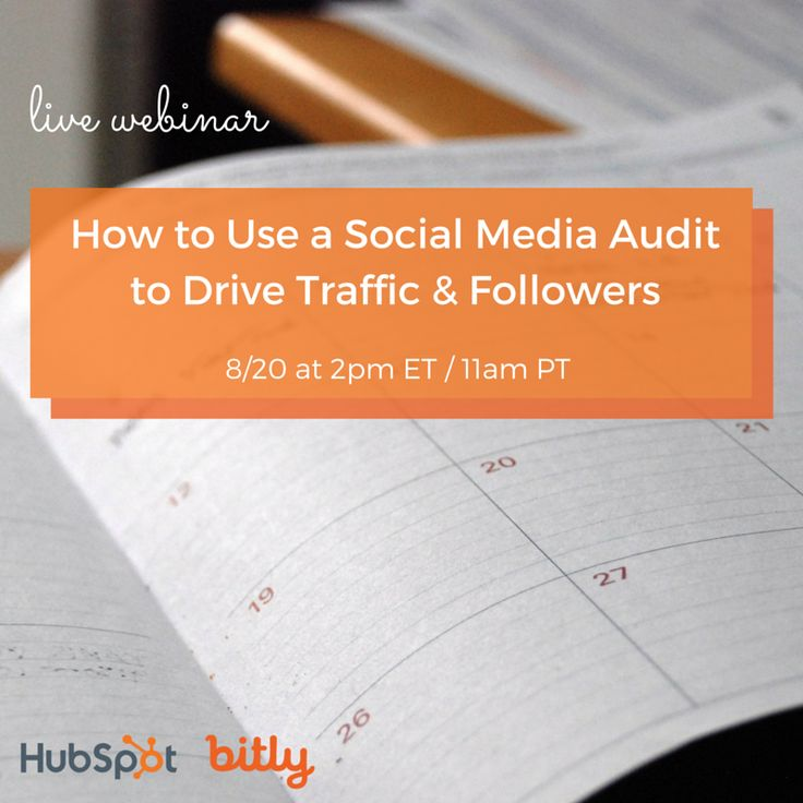 When was the last time you really examined your social strategy? Bitly & HubSpot explain how to use an audit to drive traffic & followers in this On Demand Webinar.