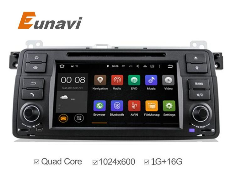 2 Din Android 5.1 Quad core HD 1024*600 screen 2 DIN Car DVD GPS Radio stereo For BMW E46 M3 android  wifi 3G GPS USB SWC AUDIO