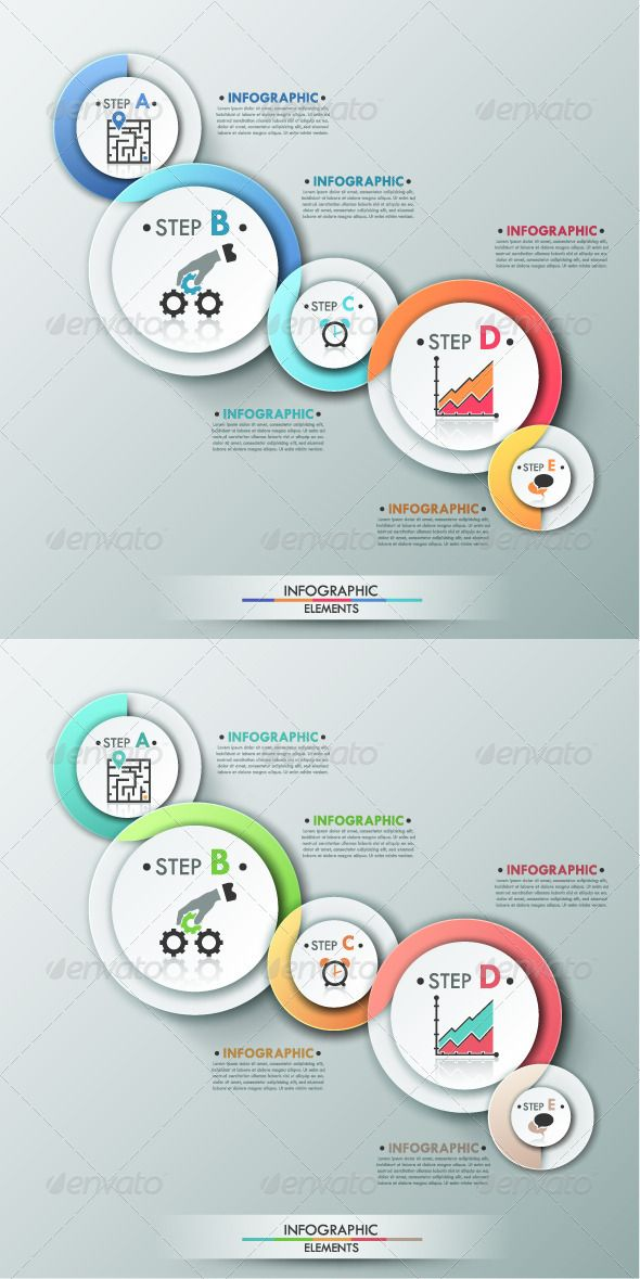Modern Infographic Process Template (2 Versions) - Infographics