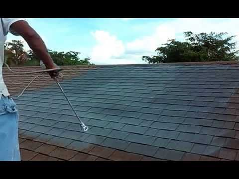 How to Spray and Painting you  Roof Shingles