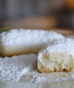 Kourabiedes aka Greek Powered Sugar Cookies ...I need to find out about orange blossom water!