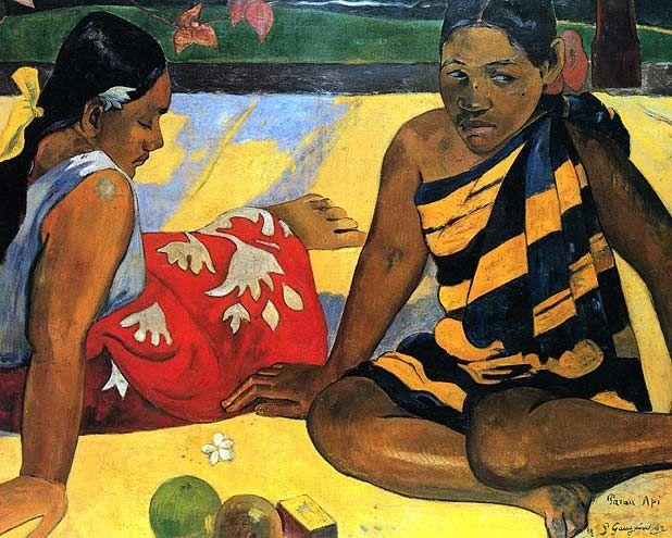 Parau api  Paul Gauguin