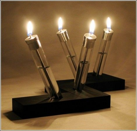Масляные лампы в форме свечей