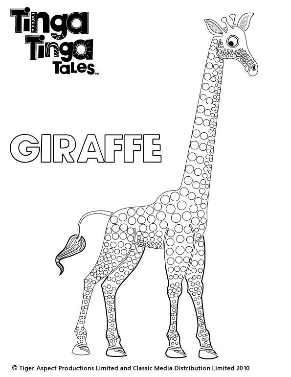 Black and white picture of Giraffe