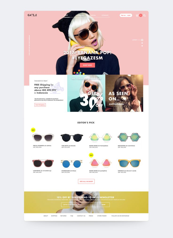 GAZE Eyewear on Behance