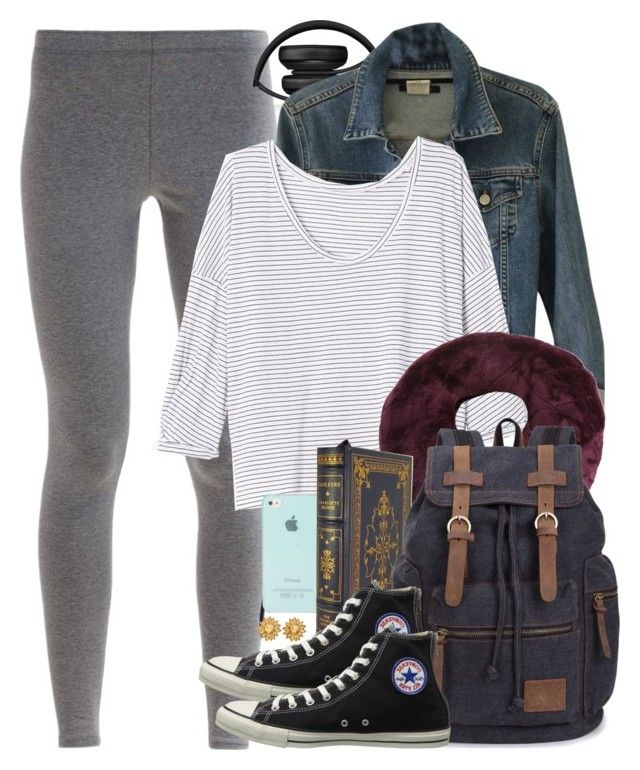 Hermione Granger Inspired Airplane Travel Outfit by hpstyle on Polyvore featuring Theory, NIKE, Converse, Chanel and Beats by Dr. Dre