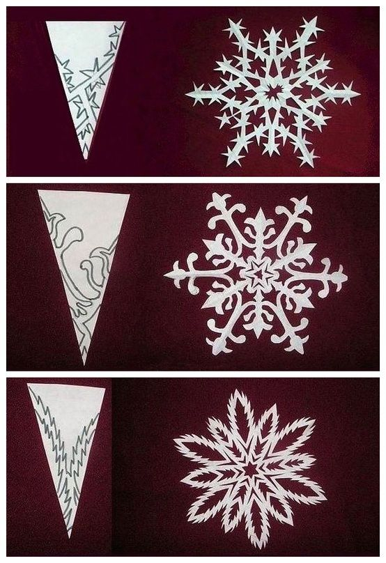 You will need:  paper .... The size you need your paper to be is quarter of A4. It will leave your snowflakes         Fold it i...