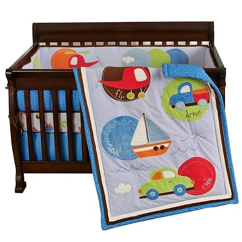 Sumersault Tiny Trips Crib Bedding Set Sumersault Ltd Babies R Us