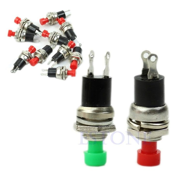 OOTDTY J34 Free Shipping 5pcs/lot Momentary On Off Push Button Micro Switch New