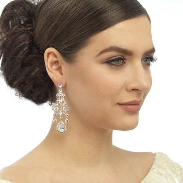 Glamorous Crystal Chandelier Earrings
