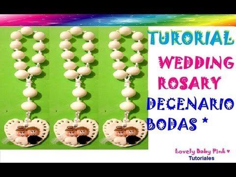 Decenario pasta flexible paso a paso / Wedding Rosary cold porcelain / p...