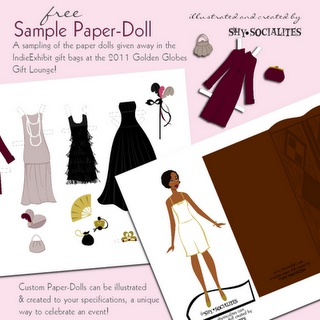 This Lovely Roaring Paper Doll Was A Gift In Some Of The Gift Bags For The  Golden Globes, And You Can Even Get A Free Sample PDF Featuring Her!