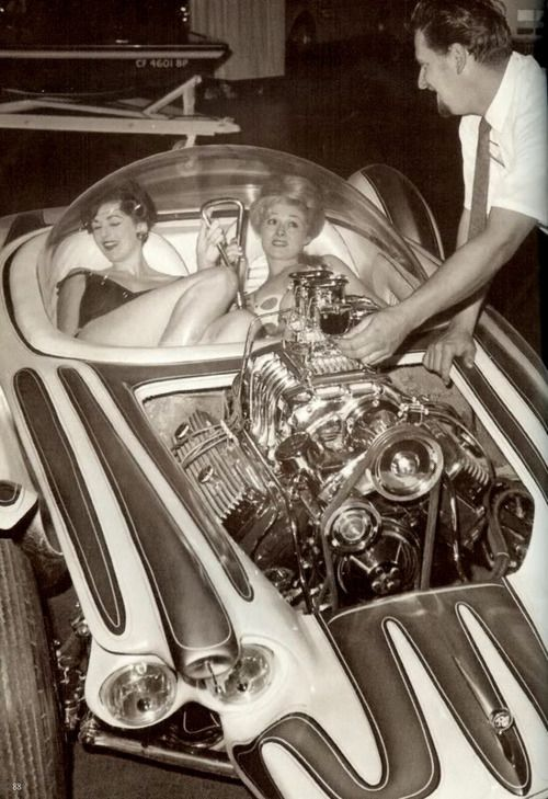 Ed big daddy Roth and his hot rod the beatnik bandit, circa 1960s....Talk about claustrophobia: Rats Fink, Custom Cars, Cool Cars, Daddy Roth, Hot Rods, Beatnik Bandit, Dreams Cars, Hotrods, Big Daddy