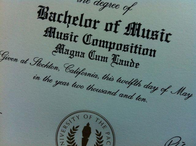 A Bachelor of Music vs. Bachelor of Arts