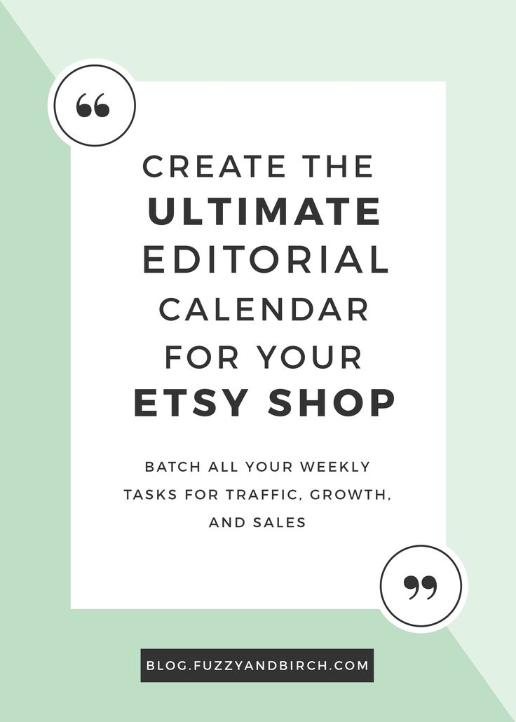 Ready to create a regular, consistent routine that you can repeat like clockwork? Learn how an editorial calendar can cut your Etsy to-do's in HALF!
