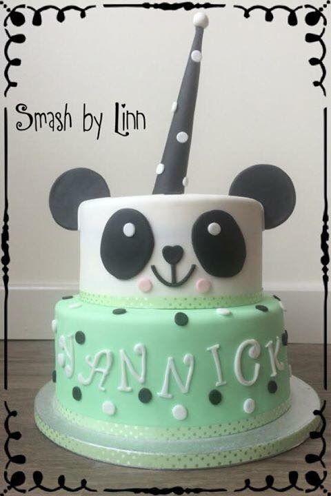 Panda fondant taart
