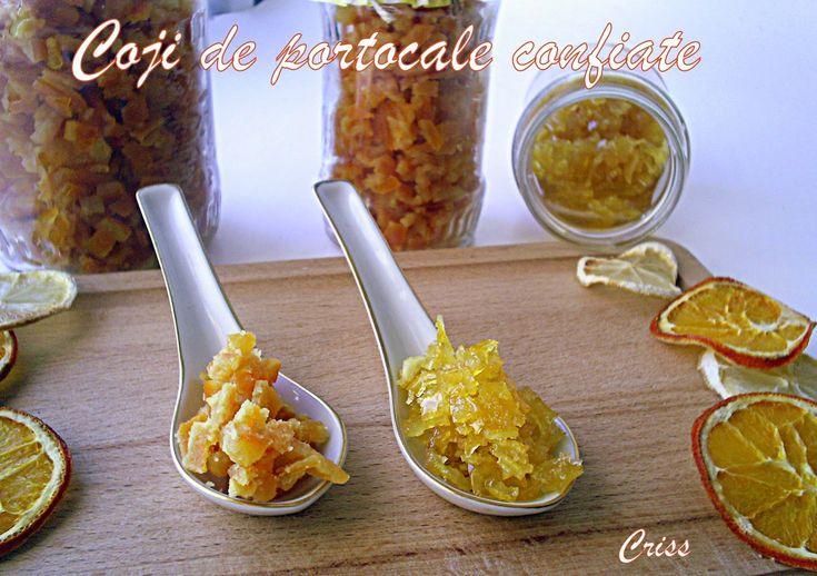 Reteta culinara Coji de portocale confiate din categoria Dulciuri. Cum sa faci Coji de portocale confiate
