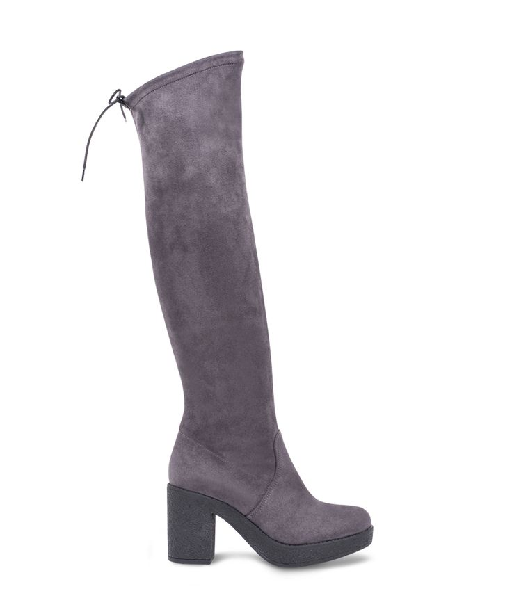 CARAD over the knee heeled boot from 9 am to 9 pm purposes... Grey