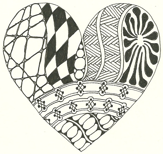 223 best images about Zentangle Hearts on Pinterest | Zentangle ...