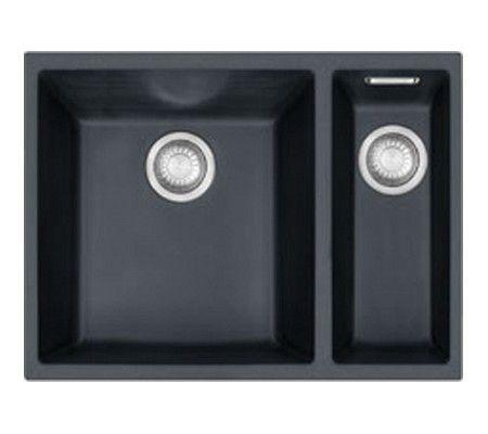 Zwarte spoelbak, dubbel voor in de keuken, zwart is niet perse nodig maar dubbel lijkt me wel het beste