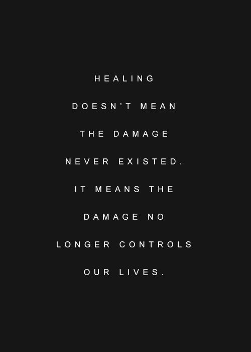 Healing...Not without scars. (View only)