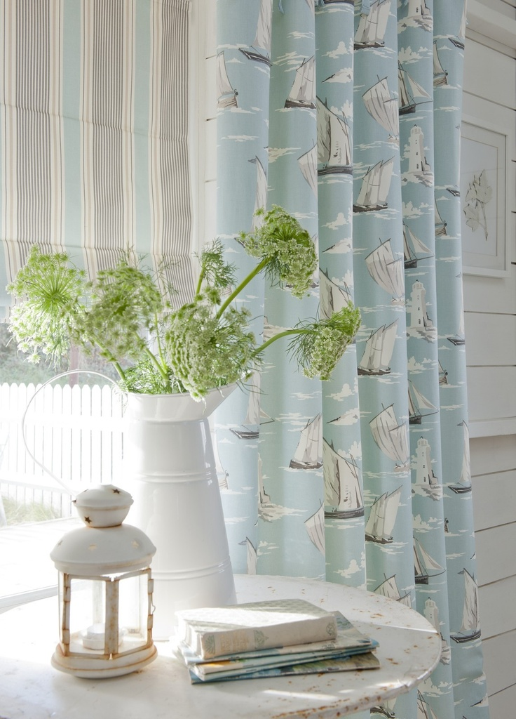 Clarke & Clarke Skipper 100% Cotton Curtain Upholstery Designer Fabric   eBay