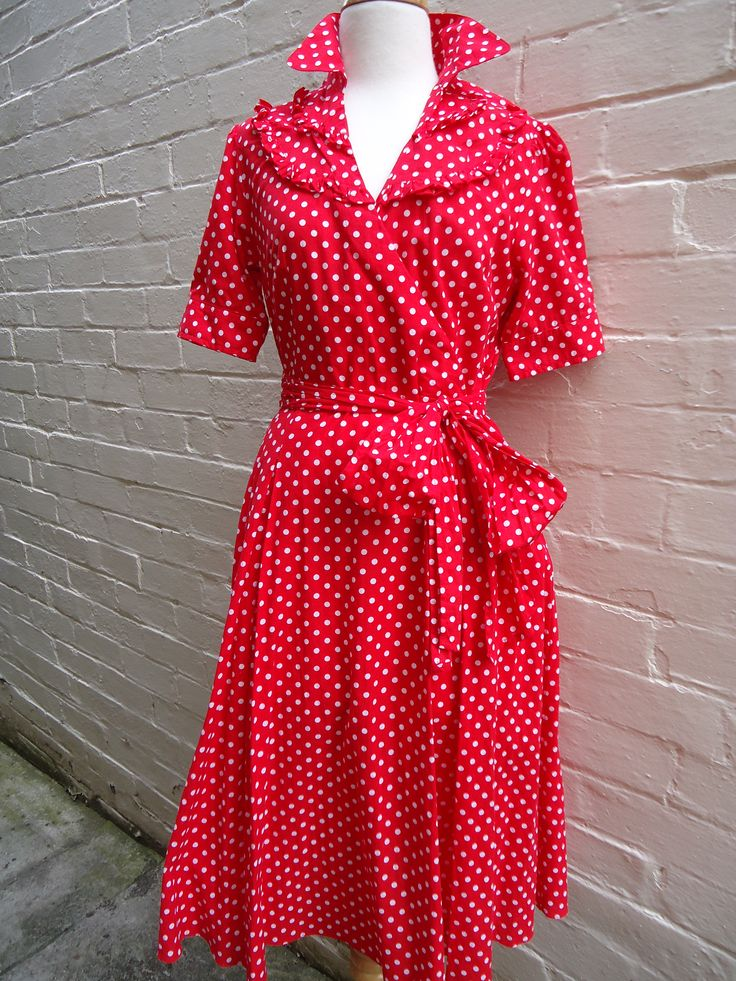 Sweet Rockabilly Retro style polka dot dress in a size 12. Great condition. Only $69