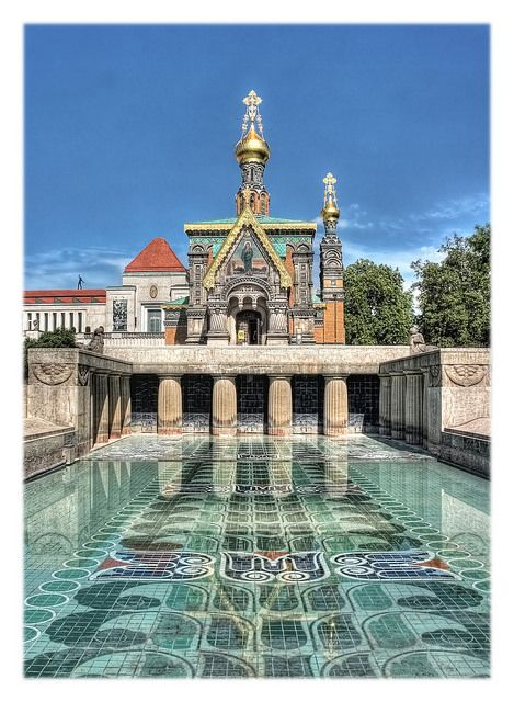 Russische Kapelle #Mathildenhöhe, #Darmstadt Germany .