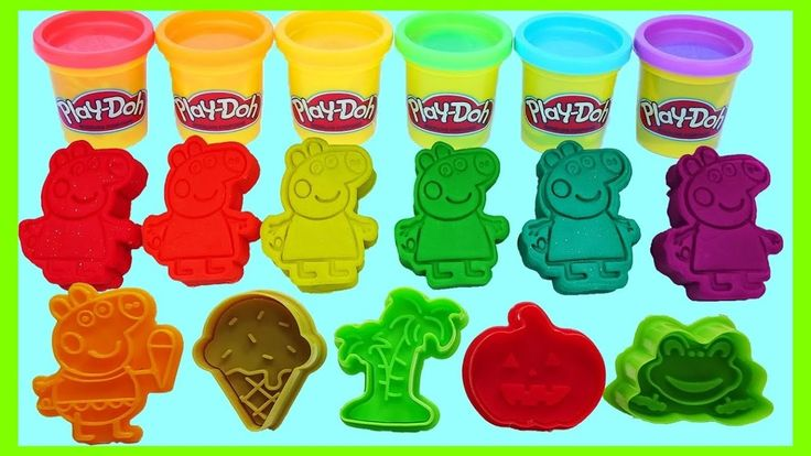 Family Peppa Pig Molds Fun! \ Learn Colors Play Doh Animal \ Finger Family Nursery Rhymes https://youtu.be/cWflZGvcJqo
