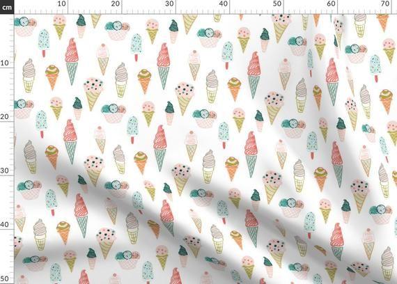 Ice Cream Indy Bloom Design Stoff – Eistüte 6 x 6 von Indybloomdesign – Ind …   – Products